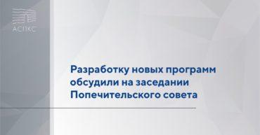 Разработку новых программ обсудили на заседании Попечительского совета